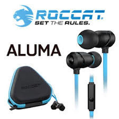 cumpără ROCCAT Aluma / Premium Performance In-Ear Headset, In-cable Microphone (omni-directional), In-cable Remote, Deep bass and crisp trebles, Multiple adapters, 6 ergonomic ear-tips, Protective case, 3.5mm jack, Black/Blue în Chișinău