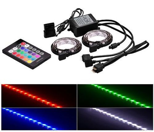 """cumpără RGD LED strips  DEEPCOOL """"RGB 350"""", Remote controller, RGB color LED strips: 500mm* 2pcs (with 200mm cable),  Different lighting modes, Magnet-based mounting, Stable and long lifespan, Software control (ASUS Aura/MSI Mystic/Gigabyte Fusion) în Chișinău"""