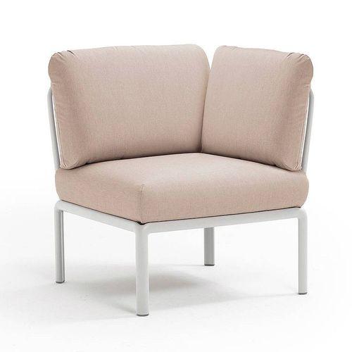 купить Кресло модуль угловой с подушками Nardi KOMODO ELEMENTO ANGOLO BIANCO-canvas Sunbrella 40374.00.141 в Кишинёве