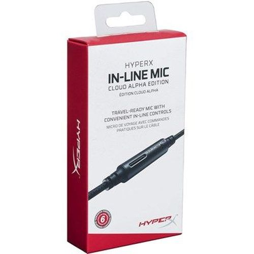 cumpără HYPERX In-Line Mic Cloud Alpha Edition, Compatible with Cloud Alpha, Single button for calls and media controls, Flexible Braided Cable în Chișinău