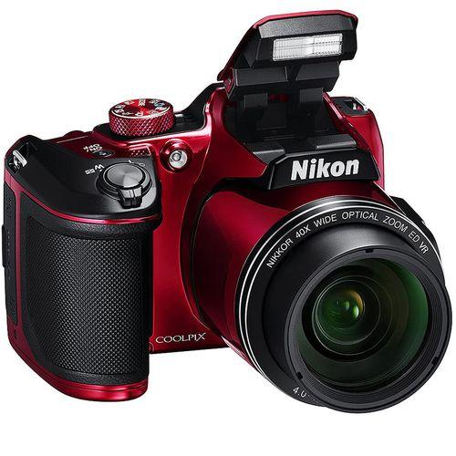 "купить NIKON Coolpix B500 Red, 16.0 MP 1/2.3"" BSI CMOS Sensor, NIKKOR f/3.0-6.5mm ED Lens, 22.5-900mm (35mm Equivalent), 40x Optical Zoom Lens, 80x Dynamic Zoom, 3"" 921k-Dot Tilting LCD, Full HD 1080p Video Recording at 30 fps, Bluetooth (BLE), Wi-Fi, VNA953E1 в Кишинёве"