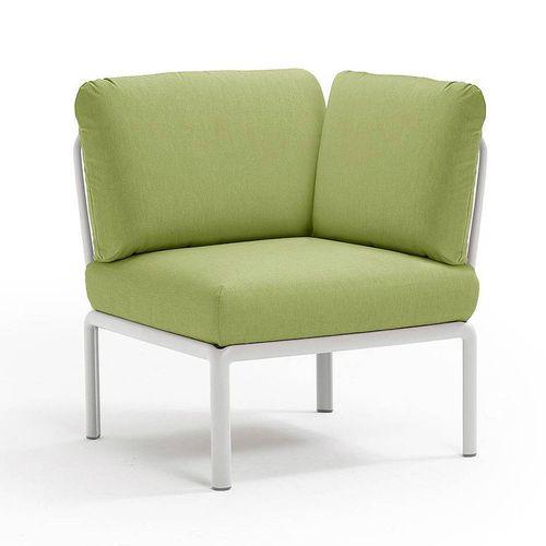 купить Кресло модуль угловой с подушками Nardi KOMODO ELEMENTO ANGOLO BIANCO-avocado Sunbrella 40374.00.139 в Кишинёве