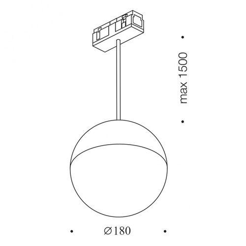 купить Светильник подвесной IN_LINE BALL M 06.1800.28.930.WH в Кишинёве