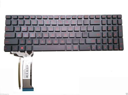 cumpără Keyboard Asus ROG GL551JW-AH71 GL551JM-EH74 GL552 GL752 Backlit ENG/RU Black în Chișinău