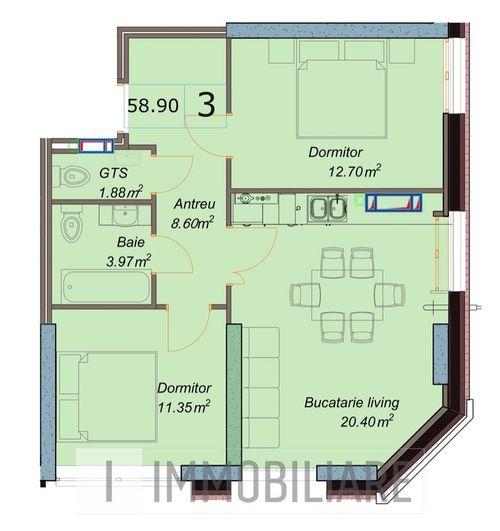Apartamente cu 3 camere, sect. Centru, str. Petru Movilă.