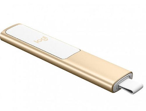 купить Logitech Spotlight Presentation Remote Gold, Bluetooth & 2.4 GHz wireless connection, Up to 30-meter range, Battery Rechargeable Lithium Polymer 85mAh, 910-004862 в Кишинёве
