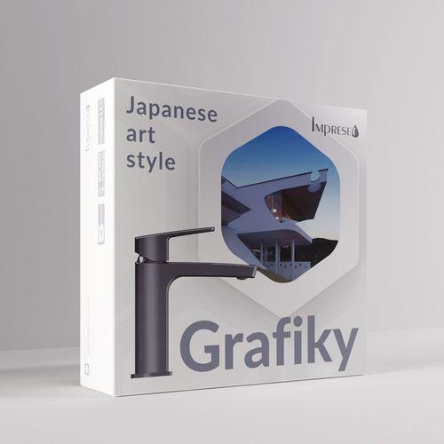 GRAFIKY смеситель для умывальника, ручка сбоку, 35 мм (ванная комната)