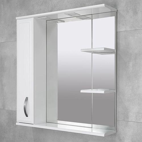 купить Allure Шкаф-зеркало белое 800 L в Кишинёве