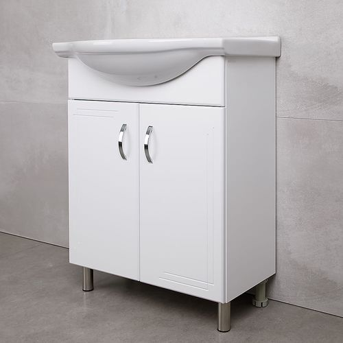 купить Verso Шкаф белый хром под умывальник Baikal 650 в Кишинёве