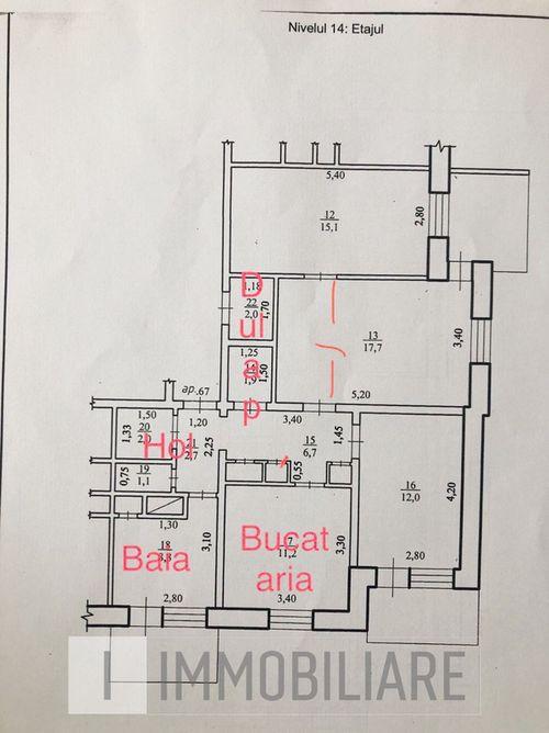 Apartament cu 3 camere+living, sect. Botanica, str. Nicolae Zelinski.