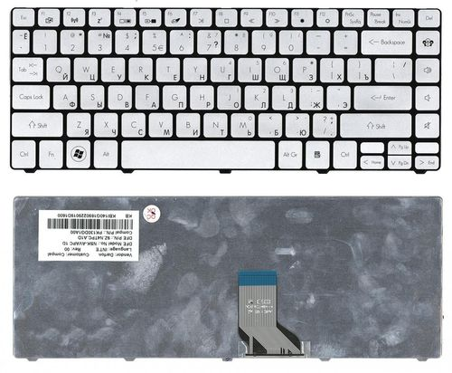 cumpără Keyboard Gateway ID49C EC49C ID43A EC38 EC39 TravelMate 8481 ENG/RU Silver în Chișinău