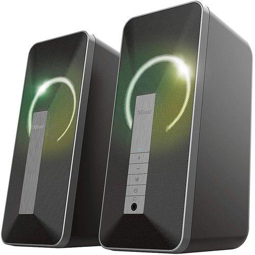 купить Колонки Active Speakers Trust Arva Illuminated Bluetooth 2.0 Speaker Set, 20W, RGB LED illumination, Black в Кишинёве