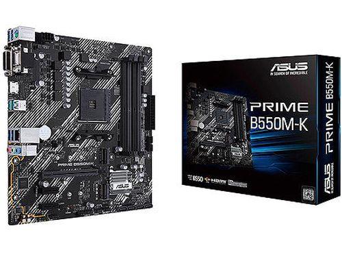 купить Материнская плата ASUS PRIME B550M-K AMD B550, AM4, Dual DDR4 4800MHz, PCI-E 4.0/3.0 x16, DVD-D/D-Sub/HDMI 2.1, USB 3.2, SATA RAID 6Gb/s, 2xM.2 x4 Socket, 64Gb/s M.2 support PCIe 4.0 x4, SB 8-Ch., GigabitLAN, LED lighting, (placa de baza/материнская плата) в Кишинёве