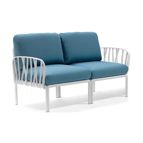 купить Диван с подушками Nardi KOMODO 2 POSTI BIANCO-adriatic Sunbrella (Диван с подушками для сада и терас) в Кишинёве