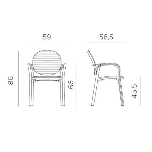 купить Кресло Nardi GARDENIA ANTRACITE-ANTRACITE 40238.02.002 (Кресло для сада и террасы) в Кишинёве