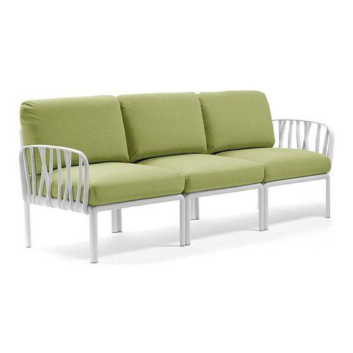 купить Диван с подушками Nardi KOMODO 3 POSTI BIANCO-avocado Sunbrella (Диван на 3 места с подушками для сада и терас) в Кишинёве
