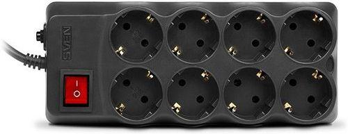 купить Surge Protector SVEN Optima Pro, 8 Sockets, 1.8m,  Black в Кишинёве