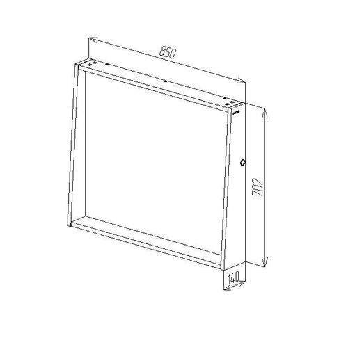 купить Porto Зеркало белое структурное Led 850 в Кишинёве