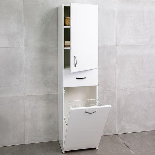 cumpără Dulap înalt Bris alb cu coș 416 R în Chișinău