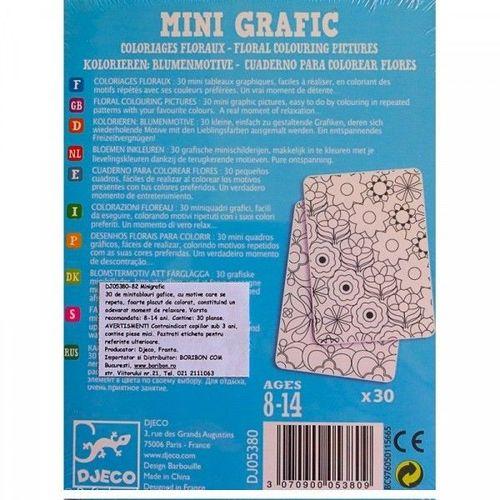 """купить MINI GRAFIC-Набор карточек """"Цветочные раскраски"""", 30 шт в Кишинёве"""