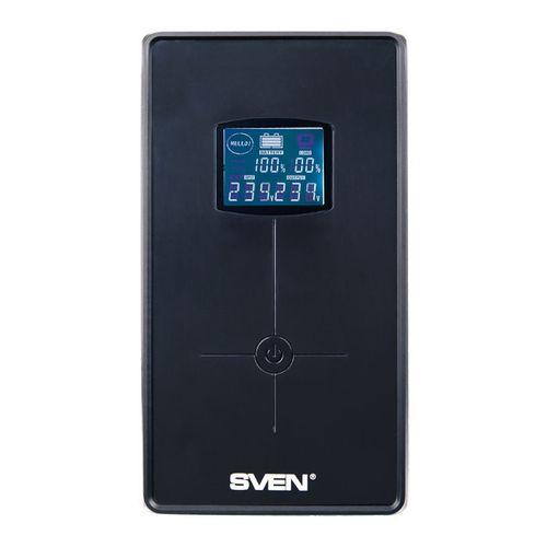 cumpără SVEN Pro+ 1500 (LCD,USB), Line-interactive UPS with AVR, 1500VA /900W, Multifunction LCD display, 2x Schuko outlets, 2x7AH, AVR: 165-275V, USB, RJ-11, Cold start function, Black în Chișinău