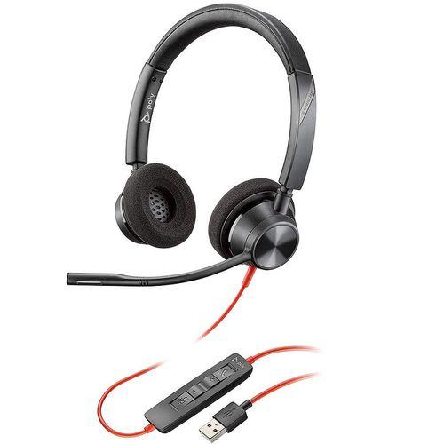 купить Plantronics Blackwire 3320 Stereo USB-A Headset 213934-01, Noise-cancelling Microphone, Remote Call Control, Mic. Frequency Response 100 Hz–10 kHz, Output 20 Hz–20 kHz, 32Ohm в Кишинёве