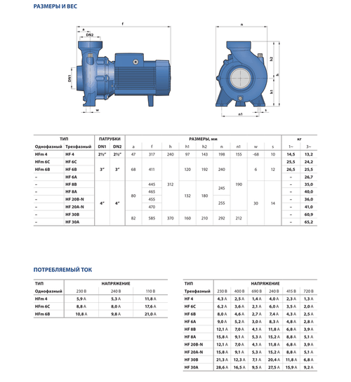 купить Центробежный насос высокой производительности Pedrollo HF 6B 1.5 кВт в Кишинёве