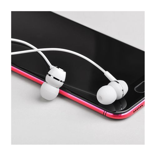 купить Borofone BM36 white (709707) Acura Universal earphones with mic, Speaker outer diameter 10MM, cable length 1.2m, Microphone, adapted to control Apple and Android в Кишинёве