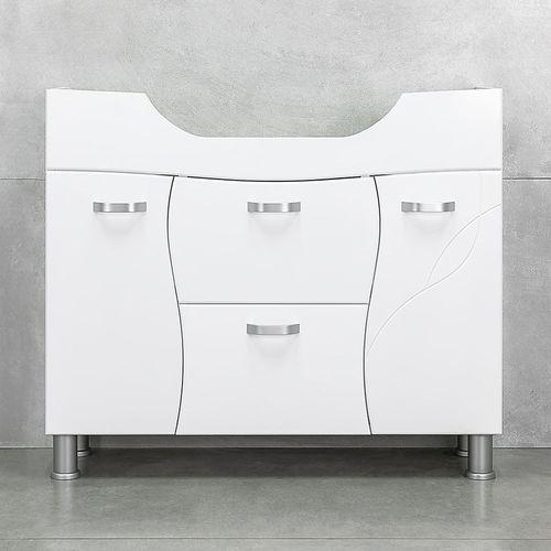 купить Interio Шкаф белый про с умывальником Zenon 970 в Кишинёве