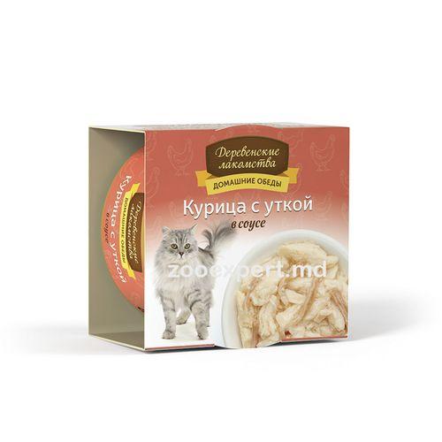 cumpără Derevenskiye lakomstva - Pui cu rață în sos 80 gr în Chișinău