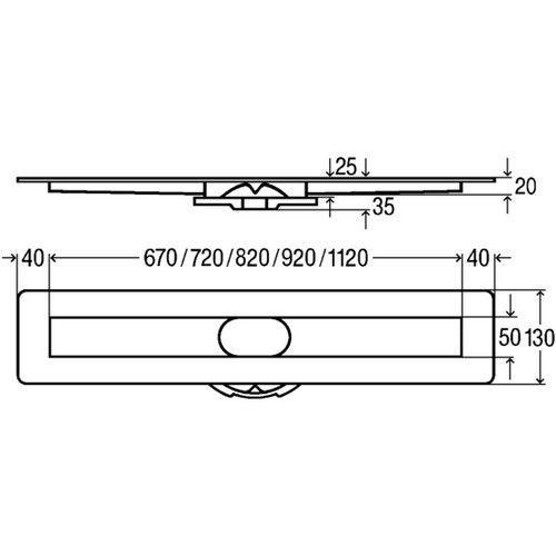Базовый элемент душевого лотка Advantix, 1200 (737009)