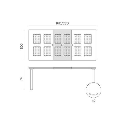 купить Стол раздвижной Nardi LIBECCIO ANTRACITE vern. antracite 47552.02.000 (Стол раздвижной для сада и террасы) в Кишинёве