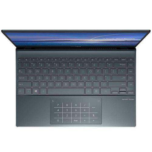 """cumpără 13.3"""" ASUS ZenBook 13 UX325JA Pine Grey, Intel i5-1035G1 1.0-3.6Ghz/8GB/SSD 512GB M.2 NVMe/Intel UHD Graphics/WiFi 6 802.11ax/BT5.0/HDMI/HD WebCam/Illum. Keyb./Number Pad/13.3"""" IPS LED Backlit FullHD NanoEdge (1920x1080)/Windows 10 UX325JA-EG035T în Chișinău"""