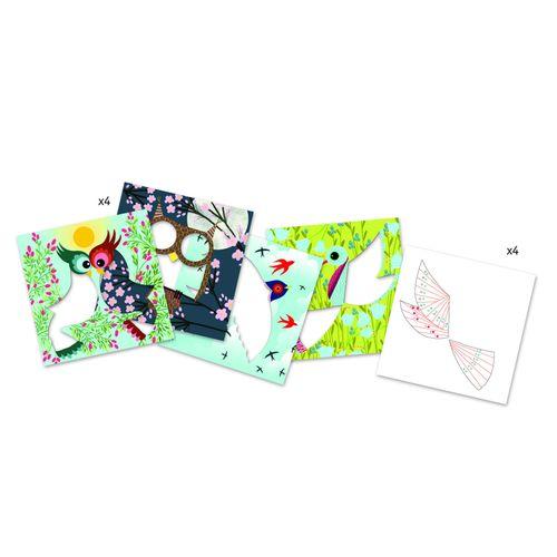"""купить Бумажный декор """"Птички"""" DJECO в Кишинёве"""