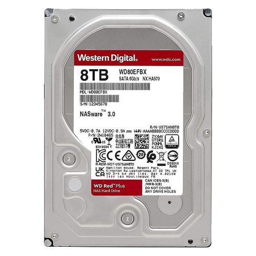 "купить 3.5"" HDD 8TB Western Digital Red Plus (NAS Storage) WD80EFBX, 7200 RPM, SATA3 6GB/s, 256MB (hard disk intern HDD/внутренний жесткий диск HDD) в Кишинёве"