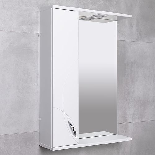купить Premium Шкаф-зеркало белый 600 L в Кишинёве