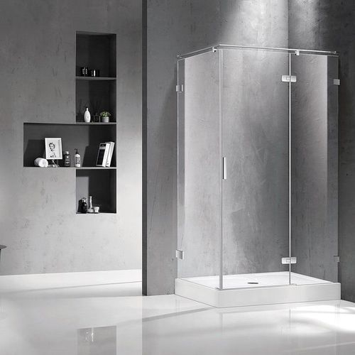NEMO душевая кабина 120*80*195см, правая, распашная, прозрачное стекло 8мм, зеркальный хром