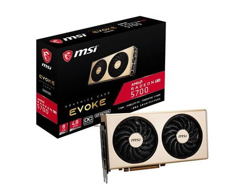 купить MSI Radeon RX 5700 EVOKE GP 8G OC /  8GB GDDR6 256Bit 1750/14000Mhz, RDNA, SP:2304Units(36CU), 1x HDMI, 3x DisplayPort, Dual fan - EVOKE Thermal design (Zero Frozr/Airflow Control Technology), 6mm Cooper Heatpipes,TORX FAN 3.0, SolidBackPlate, Retail в Кишинёве
