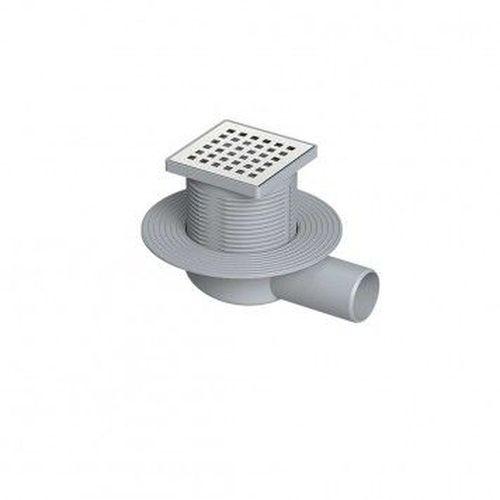 Комплект: трап из нержавеющей стали + горизонтальный выходной разъем 110 мм (0121291 + 0121295)