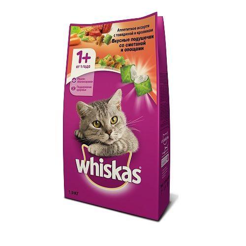 купить Whiskas ассорти 1 kg, с овощами, говядиной и кроликом в Кишинёве