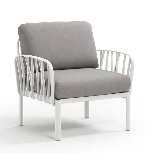 купить Кресло с подушками для сада и терас Nardi KOMODO POLTRONA BIANCO-grigio 40371.00.163 в Кишинёве