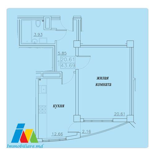 Apartament 1 cameră. Sec.Telecentru(Exfactor)