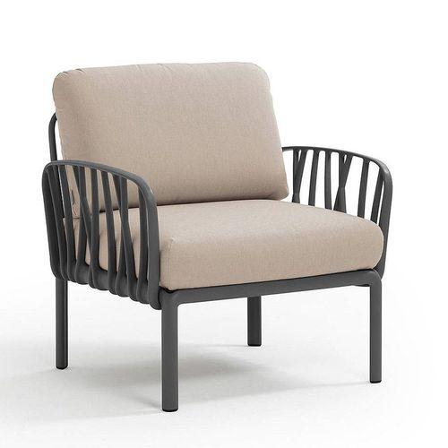 купить Кресло с подушками для сада и терас Nardi KOMODO POLTRONA ANTRACITE-canvas Sunbrella 40371.02.141 в Кишинёве