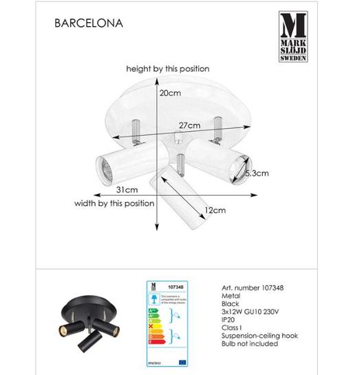 купить Светильник Barcelona 107348 в Кишинёве