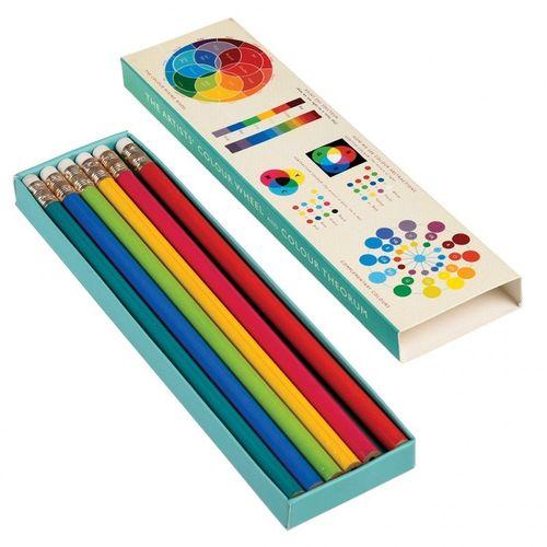 купить 6 карандашей в коробке с цветным колесом в Кишинёве