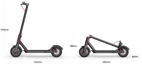 "купить Xiaomi Mi Electronic Scooter, Black, Folding Electronic Scooter, Aluminum alloy, Max speed 25km/h, Battery capacity:35km in a single charge, Weight 12.5kg, Wheel 8"", Maximum load: 100kg, Headlight LED 1W, Front LED light, Cruise Control, IP54, BT в Кишинёве"