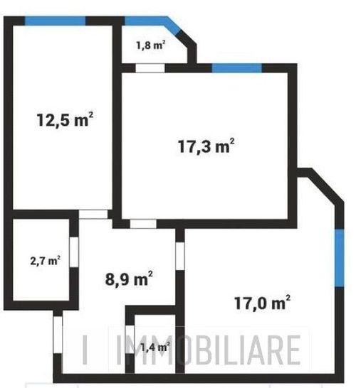Apartament cu 2 camere+living, sect. Centru, str. N. Testemițanu.