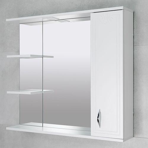 купить Deco One Шкаф-зеркало белый 970 R в Кишинёве