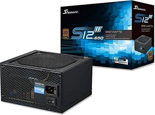 купить Power Supply ATX 650W Seasonic S12III-650 80+ Bronze, 120mm fan, S2FC в Кишинёве