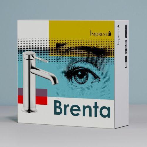 BRENTA смеситель для умывальника, хром 25 мм  (ванная комната)